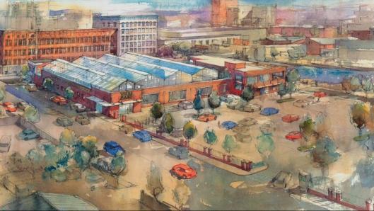 Il progetto prevede la realizzazione di una serra sul tetto in piena città